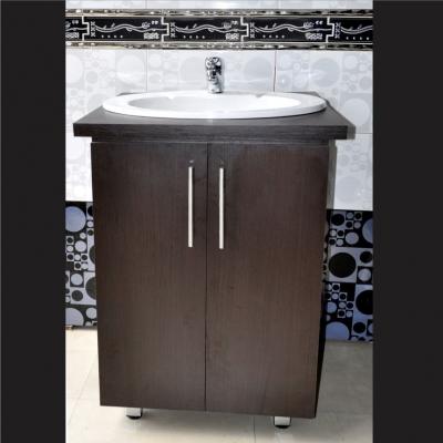 Mueble lavamanos ceralux color wengue materiales emo s a for Muebles para sanitarios